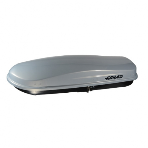 Dual Side Opening with Central Locking Farad roof box KORAL 630L grey