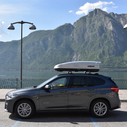 FARAD Roof Box  KORAL 400L grey metallic